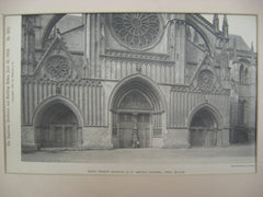 South Transept Doorways of St. Martin's Cathedral, Ypres, Belgium, EUR, 1892