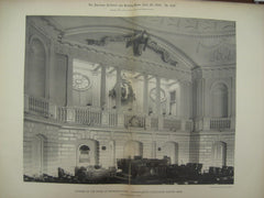 Chamber of the House of Representatives at the Massachusetts State-House, Boston, MA, 1892, Charles Bulfinch