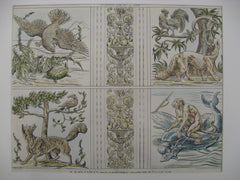 Aesop's Fables on Plaster Panels at Holland Park, London, England, UK, 1884, Walter Crane