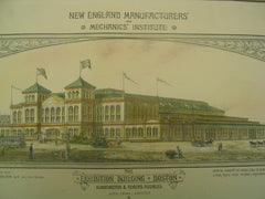 New England Manufacturers' and Mechanics' Institute at the Exhibition Building, Boston, MA, 1881, Alden Frink