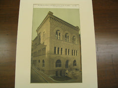 American Unitarian Association's Building, Boston, MA, 1888, Peabody & Stearns