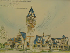 St. George's Church and Parish Buildings, St. Louis, MO, 1891, Tully & Clark