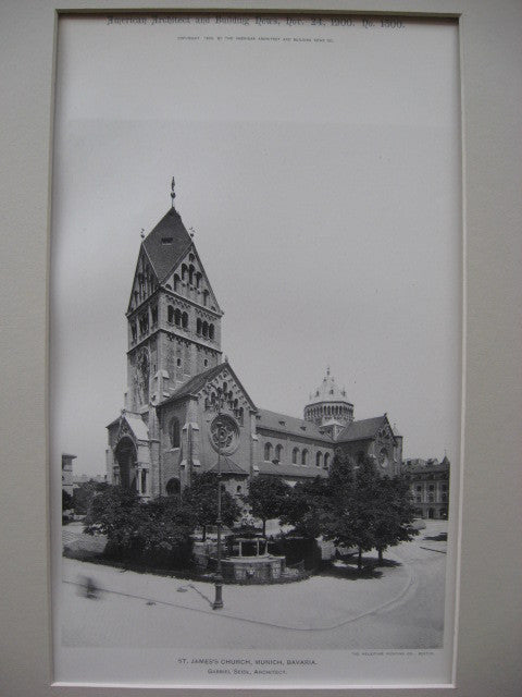 St. James's Church, Munich, Bavaria, EUR, 1900, Gabriel Seidl