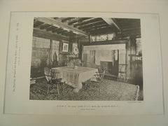 Interior at , Monmouth Beach, NJ, 1886, Bruce Price
