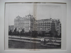 Hotel Cecil at Victoria Embankment, London, England, UK, 1896, Perry and Reed