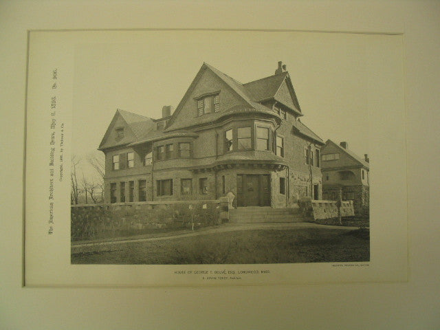 House of George F. Bouve, Esq., Longwood, MA, 1895, S. Edwin Tobey