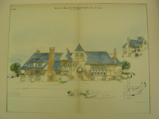 Farm House Improvements for Mr. Wilder, Orange County, NY, 1892, W. G. W. Dietrich
