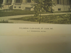Columbian Club-House, St. Louis, MO, 1895, A. F. Rosenheim
