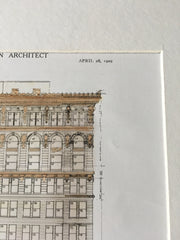 4th National Bank, Atlanta, GA, 1909, Morgan & Dillon, Original Hand Colored -