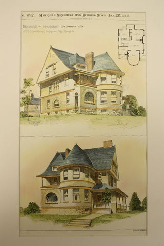 Residence of D. B. Anderson , New Cumberland, WV, 1893, S. T. McClarren