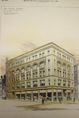 Taylor Building on the Corner of Essex and Columbia Sts., Boston, MA, 1895, Hartwell and Richardson