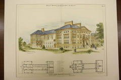 Central Building of the Kindergarten for the Blind at Jamaica Plain , Boston, MA, 1893, Walter R. Forbush