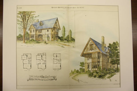 Architect's Home, the Residence of Robert Brown, 1893, Robert Brown