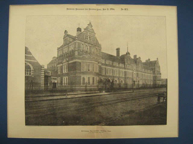 Battersea Polytechnic (now the University of Surrey), London, England, UK, 1894, E. W. Mountford