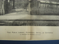 Free Public Library, Edinburgh, Scotland, UK, 1894, G. Washington Browne