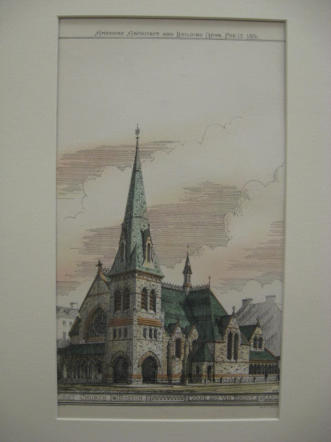 First Church, Boston, MA, 1876, Ware and Van Brunt