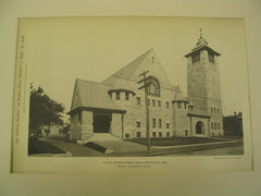 Central Congregational Church, Newtonville, MA, 1897, Hartwell & Richardson