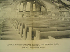 Central Congretional Church, Newtonville, MA, 1895, Hartwell & Richardson