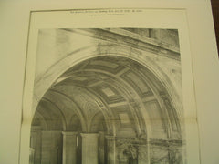 Vestibule and Staircase Arch: Public Library, Boston, MA, 1895, McKim, Mead & White
