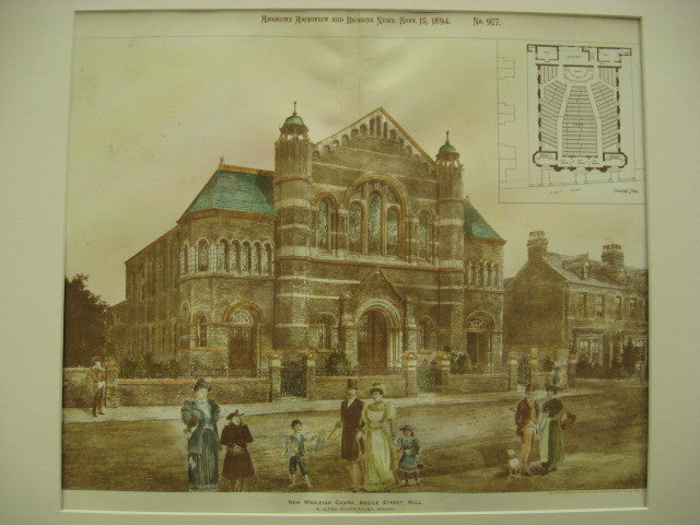 New Wesleyan Chapel on Argyle Street, Hull, England, UK, 1894, W. Alfred Gelder