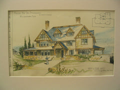 House for Dr. Stoddard, Williamstown, MA, 1895, Romeyn and Stever