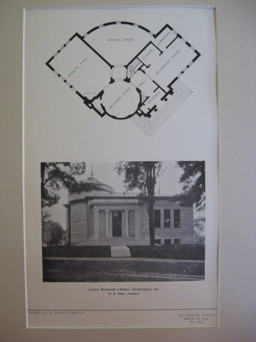 Cutler Memorial Library , Farmington, ME, 1904, W. R. Willer