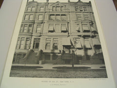 Houses on 86th St, New York, NY, 1891, J. G. Prague