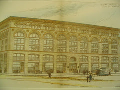 Ames Store Building, Boston, MA, 1889, Shepley, Rutan and Coolidge