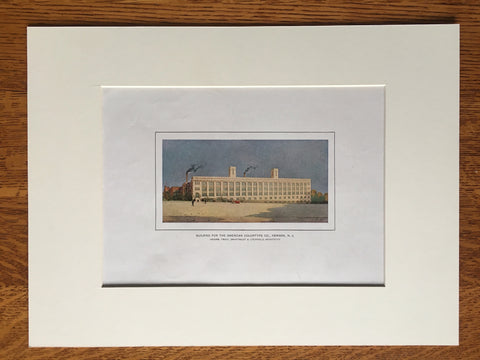 American Colortype Factory, Newark, NJ, 1912, Original Colored Lithograph -