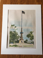 Evacuation Monument, Dorchester Heights, South Boston, MA, 1899, Cabot, Everett & Mead, Original Hand Colored