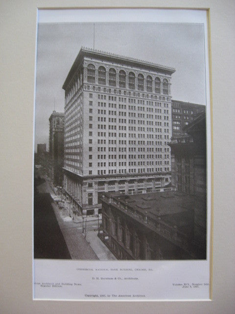 Commercial National Bank Building, Chicago, IL, 1907, D. H. Burnham and Company