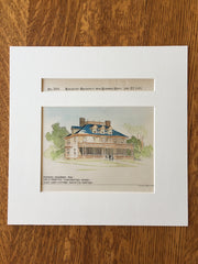 William Forsyth House, Winchester, MA, 1893, Wait & Cutter, Original Hand Colored -