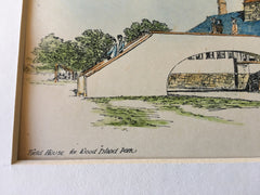 Field House, Wood Island Park, Boston, MA, 1895, Sturgis & Cabot, Original Hand Colored -