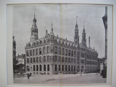 The New Post Office, Amsterdam, EUR, 1898, J. L. Cuypers