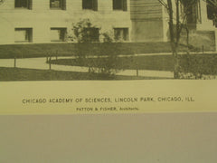 Chicago Academy of Sciences, Lincoln Park, Chicago, IL, 1896, Patton & Fisher