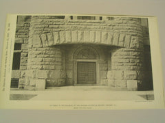 Entrance to the Building of the Chicago Historical Society, Chicago, IL, 1896, Henry Ives Cobb