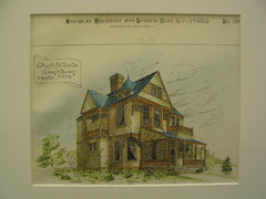 Cottage for F. W. Oliver, St. Louis, MO, 1885, Ramsey and Swasey