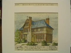 House for J. Griffiths Masten, Newport, RI, 1883, Alex F. Oakley and Co