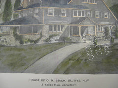 House of O. M. Beach, Rye, NY, 1904, J. Acker Hays