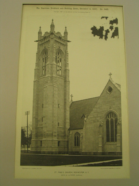 St. Paul's Church, Rochester, NY, 1896, Heins and La Farge