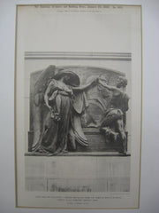 Bronze Bas-Relief from the Tomb of Martin Milmore at Forest Hills Cemetery, Boston, MA, 1898, Daniel C. French