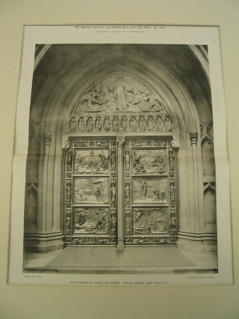 Astor Memorial Door at the East Porch of Trinity Church, New York, NY, 1896, Richard Morris Hunt, Sculpted by Karl Bitter