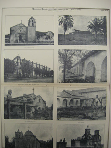 Spanish Mission Buildings, Arizona and Mexico, LAM, 1897