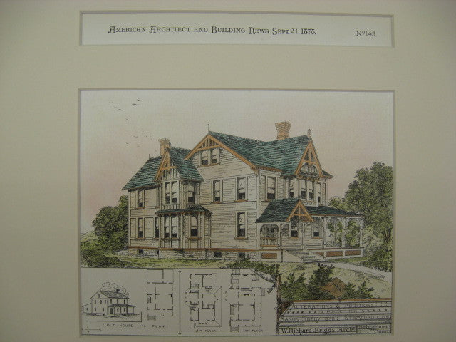 Seely House, Stamford, CT, 1878, W. Richard Briggs