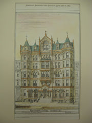 Hotel Clury, Boston, MA, 1878, J. Pickering Putnam