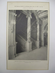 Stairs from the First to Second Story at the Crocker Building, San Francisco, CA, 1893, A. Page Brown