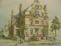 Residence for S. A. Brown on Mich. Bldv. near 26th St, Chicago, IL, 1887, Burling and Whitehouse