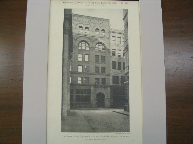 Building of the New England Shoe and Leather Association, Boston, MA, 1892, Hartwell and Rchardson