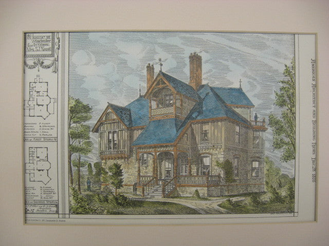 House for S. J. Nowell, Winchester, MA, 1878, J. F. Ober and G. D. Rand