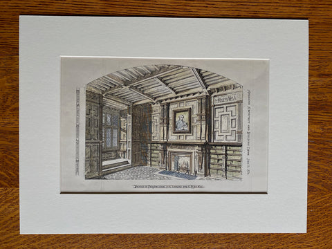 Library for C N Joy, Esq., 1876, Hand Colored Original -